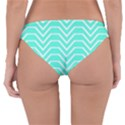 Seamless Pattern Of Curved Lines Create The Effect Of Depth The Optical Illusion Of White Wave Reversible Hipster Bikini Bottoms View4