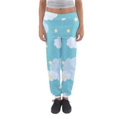 Stellar Cloud Blue Sky Star Women s Jogger Sweatpants by Mariart