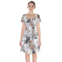 Color Fun 03e Short Sleeve Bardot Dress by MoreColorsinLife