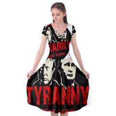 Make Tyranny Great Again Cap Sleeve Wrap Front Dress by Valentinaart