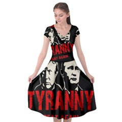 Make Tyranny Great Again Cap Sleeve Wrap Front Dress