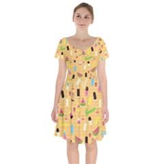 Summer Pattern Short Sleeve Bardot Dress by Valentinaart