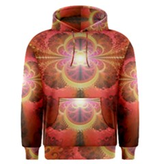 Liquid Sunset, A Beautiful Fractal Burst Of Fiery Colors Men s Pullover Hoodie