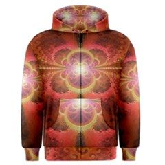 Liquid Sunset, A Beautiful Fractal Burst Of Fiery Colors Men s Zipper Hoodie by jayaprime