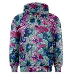 Floral Chrome 2c Men s Zipper Hoodie by MoreColorsinLife