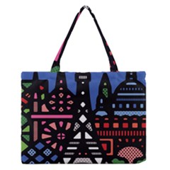 7 Wonders World Medium Zipper Tote Bag
