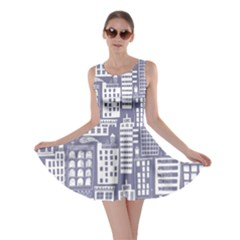 Building Citi Town Cityscape Skater Dress by Mariart