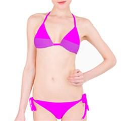 Line Pink Bikini Set by Mariart