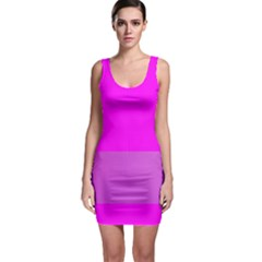 Line Pink Sleeveless Bodycon Dress by Mariart