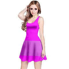 Line Pink Reversible Sleeveless Dress by Mariart