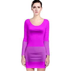 Line Pink Long Sleeve Bodycon Dress by Mariart