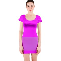 Line Pink Short Sleeve Bodycon Dress by Mariart