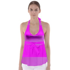 Line Pink Babydoll Tankini Top by Mariart