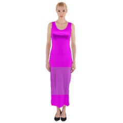 Line Pink Fitted Maxi Dress by Mariart