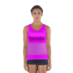 Line Pink Women s Sport Tank Top  by Mariart