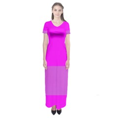 Line Pink Short Sleeve Maxi Dress by Mariart