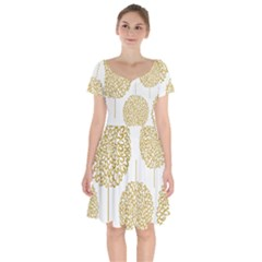 Loboloup Hydrangea Quote Floral And Botanical Flower Short Sleeve Bardot Dress by Mariart