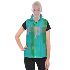 Shadow Faintly Faint Line Green Women s Button Up Puffer Vest by Mariart