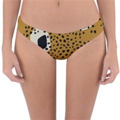 Surface Patterns Spot Polka Dots Black Reversible Hipster Bikini Bottoms by Mariart