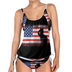 Honor Our Heroes On Memorial Day Tankini by Catifornia