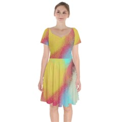 Textured Paint                     Short Sleeve Bardot Dress by LalyLauraFLM