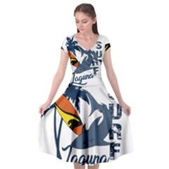 Surf   Laguna Cap Sleeve Wrap Front Dress by Valentinaart