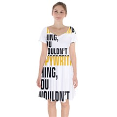 07 Copywriting Thing Copy Short Sleeve Bardot Dress