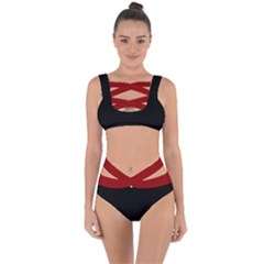 Black And Red Bandaged Up Bikini Set  by LetsDanceHaveFun
