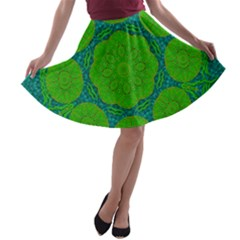 Summer And Festive Touch Of Peace And Fantasy A Line Skater Skirt by pepitasart