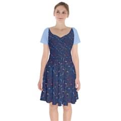 04 B 04 A Short Sleeve Bardot Dress by berwies