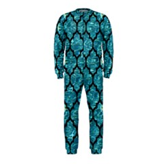 Tile1 Black Marble & Blue Green Water (r) Onepiece Jumpsuit (kids) by trendistuff