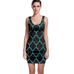 Tile1 Black Marble & Blue Green Water Bodycon Dress by trendistuff