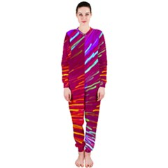 Zoom Colour Motion Blurred Zoom Background With Ray Of Light Hurtling Towards The Viewer Onepiece Jumpsuit (ladies)  by Mariart
