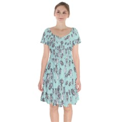 Cockroach Insects Short Sleeve Bardot Dress