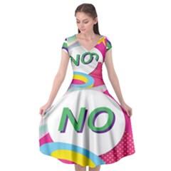 Lightning Polka Dots Circle Pink Waves Behance Feelings Beauty Cap Sleeve Wrap Front Dress
