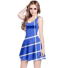 Line Stripes Blue Reversible Sleeveless Dress by Mariart