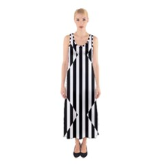 Optical Illusion Inverted Diamonds Sleeveless Maxi Dress by Mariart
