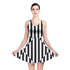 Optical Illusion Inverted Diamonds Reversible Skater Dress by Mariart