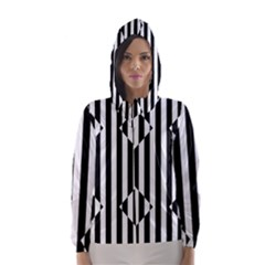 Optical Illusion Inverted Diamonds Hooded Wind Breaker (women) by Mariart