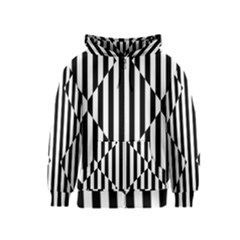 Optical Illusion Inverted Diamonds Kids  Zipper Hoodie by Mariart