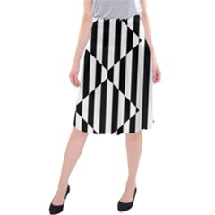 Optical Illusion Inverted Diamonds Midi Beach Skirt by Mariart