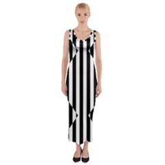 Optical Illusion Inverted Diamonds Fitted Maxi Dress by Mariart
