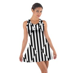 Optical Illusion Inverted Diamonds Cotton Racerback Dress by Mariart