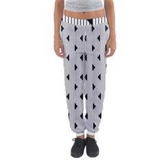 Stripes Line Triangles Vertical Black Women s Jogger Sweatpants by Mariart