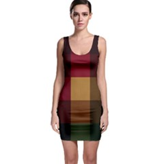 Stripes Plaid Color Sleeveless Bodycon Dress by Mariart