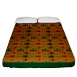 Colorful Kente Pattern3 Fitted Sheet (Queen Size)