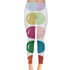 Brights Pastels Bubble Balloon Color Rainbow Leggings  by Mariart