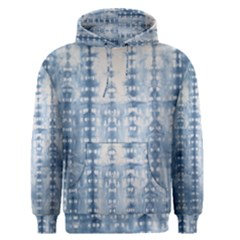 Indigo Grey Tie Dye Kaleidoscope Opaque Color Men s Pullover Hoodie