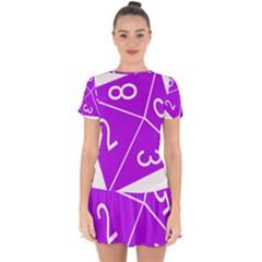 Number Purple Drop Hem Mini Chiffon Dress