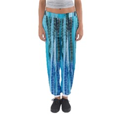 Line Tie Dye Green Kaleidoscope Opaque Color Women s Jogger Sweatpants by Mariart
